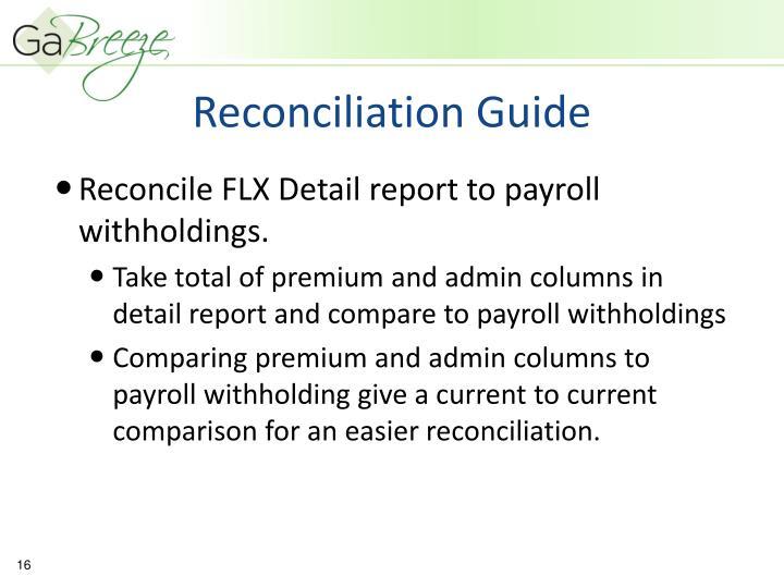 Reconciliation Guide
