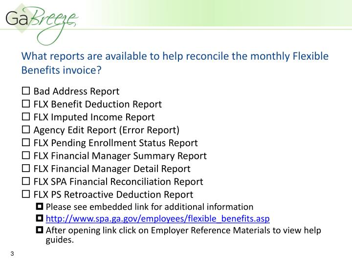 What reports are available to help reconcile the monthly flexible benefits invoice