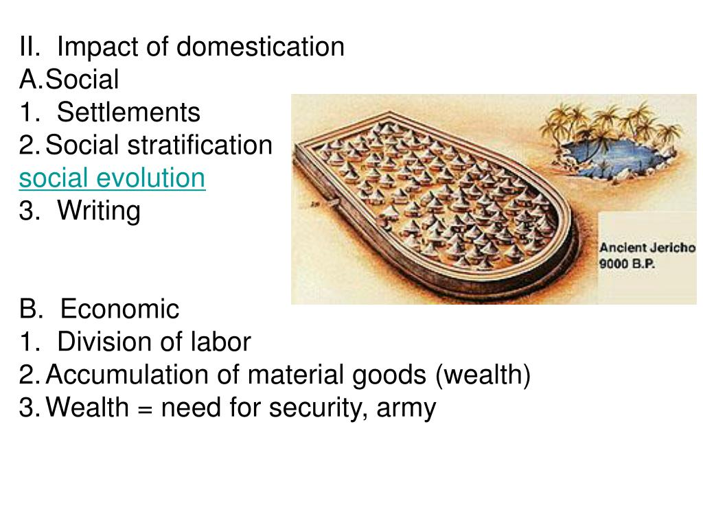 II.  Impact of domestication