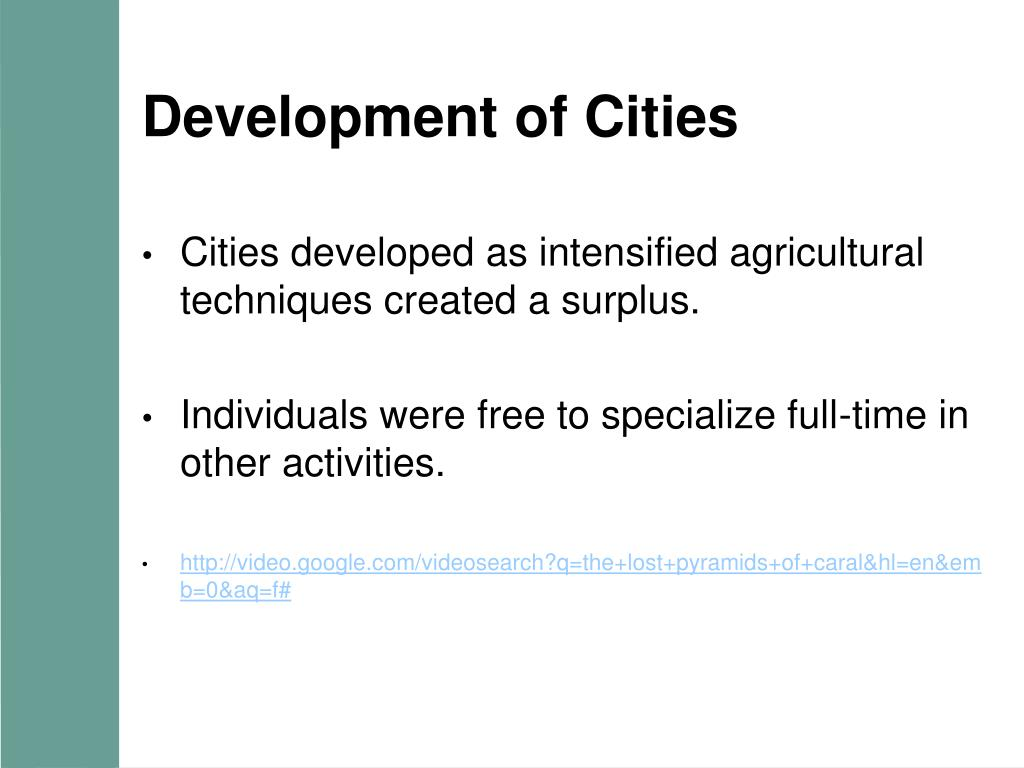 Development of Cities