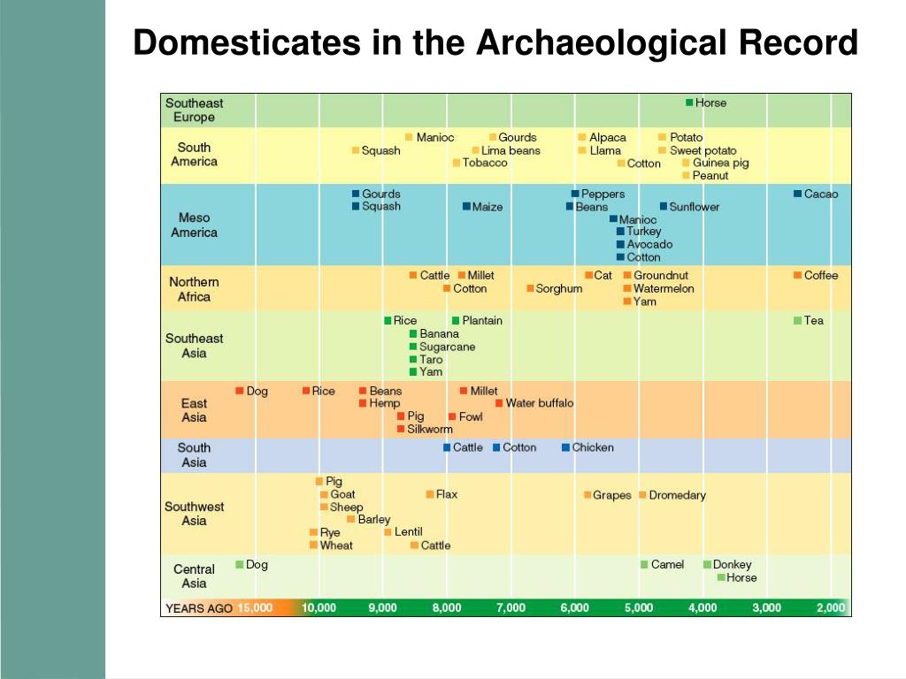 Domesticates in the Archaeological Record