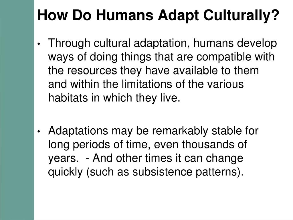 How Do Humans Adapt Culturally?