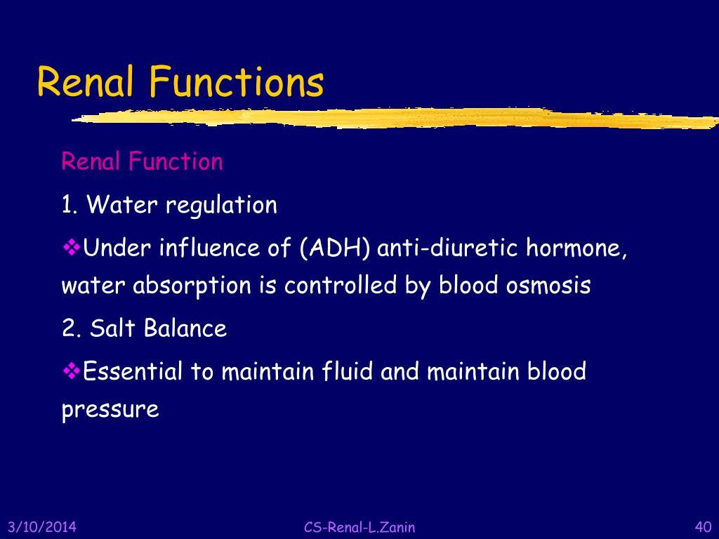 Renal Functions