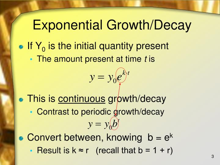 Exponential growth decay