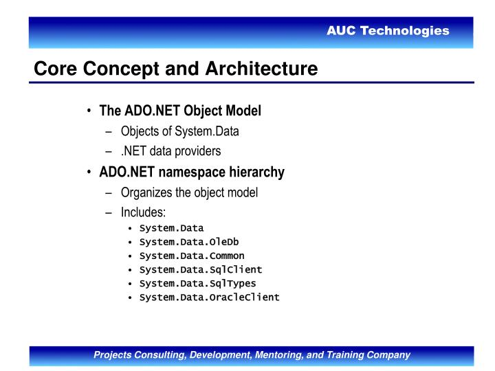 The ADO.NET Object Model