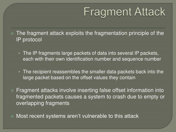 Fragment Attack