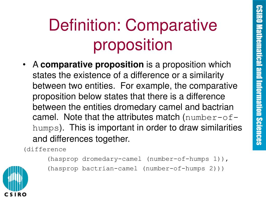 Definition: Comparative proposition