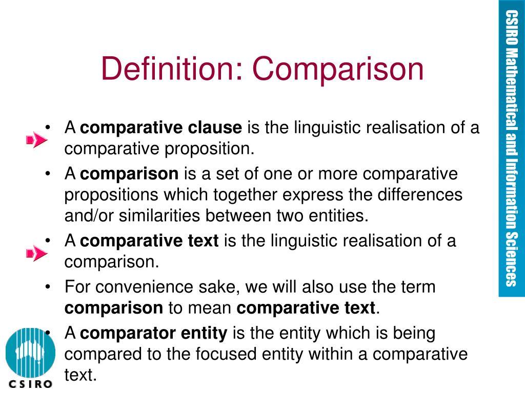Definition: Comparison