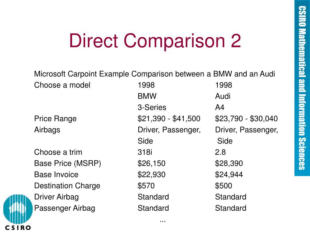Direct Comparison 2