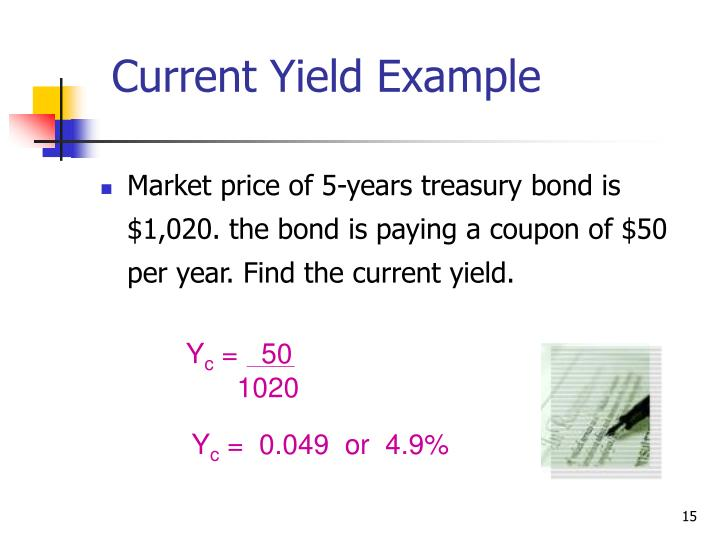 Current Yield Example