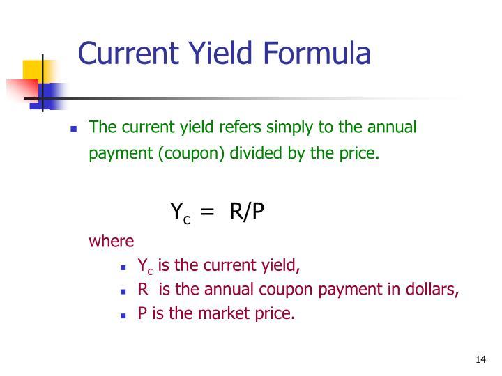 Current Yield Formula