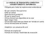 la unidad de endoscopia digestiva consentimiento informado