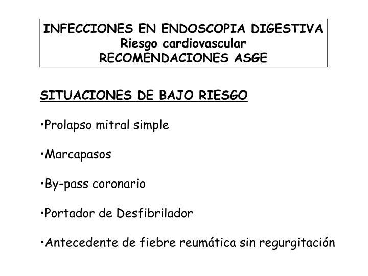 INFECCIONES EN ENDOSCOPIA DIGESTIVA