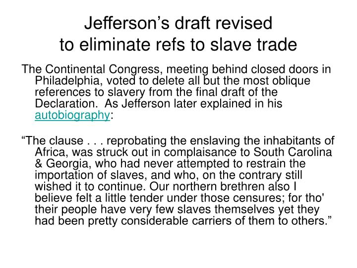 Jefferson's draft revised