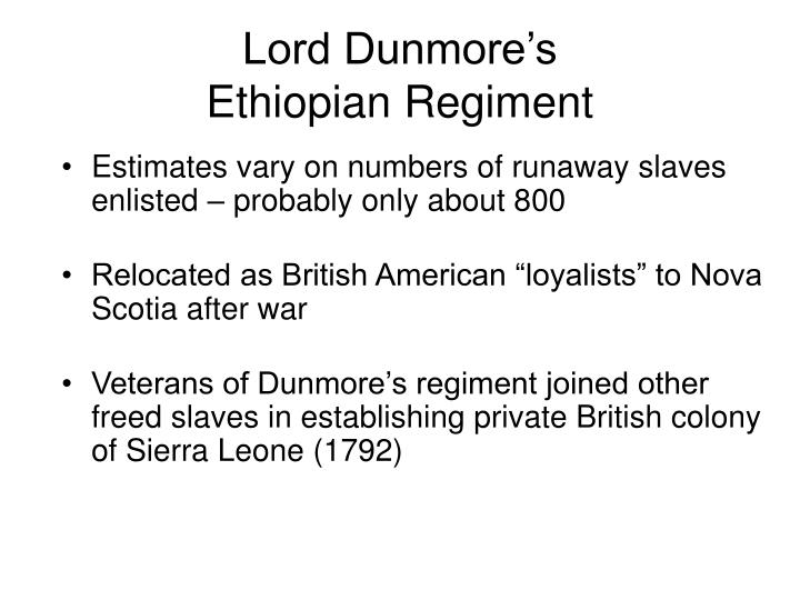 Lord Dunmore's
