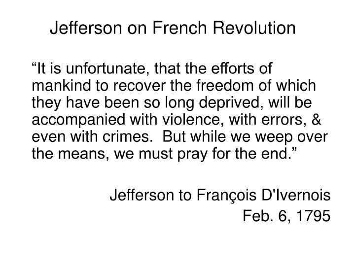 Jefferson on French Revolution