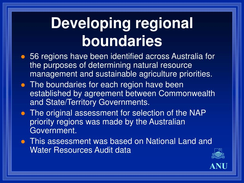 Developing regional boundaries