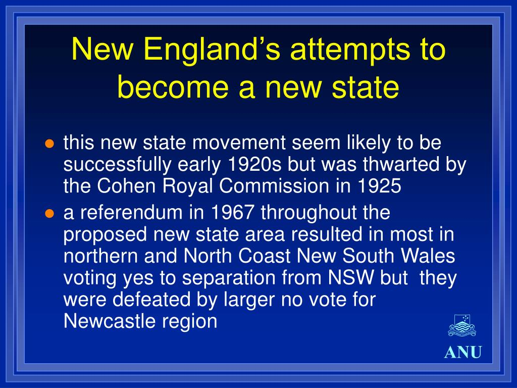New England's attempts to become a new state