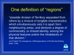 one definition of regions