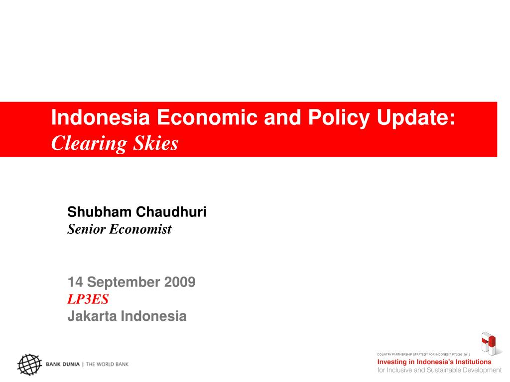Indonesia Economic and Policy Update: