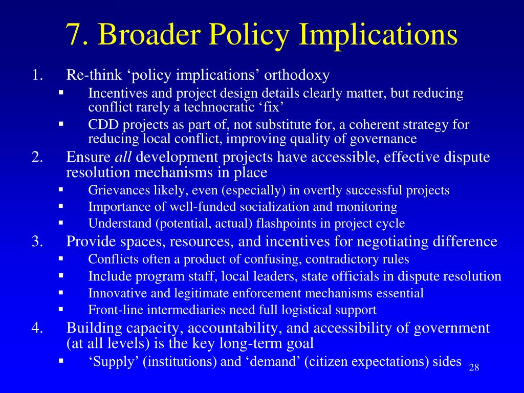 7. Broader Policy Implications