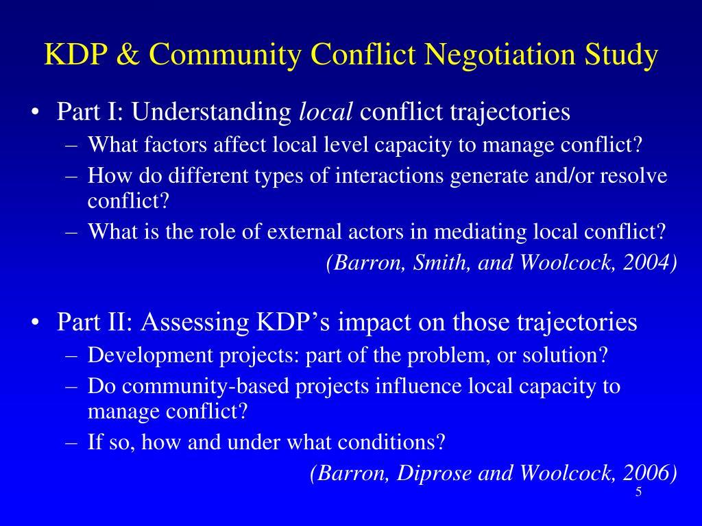 KDP & Community Conflict Negotiation Study