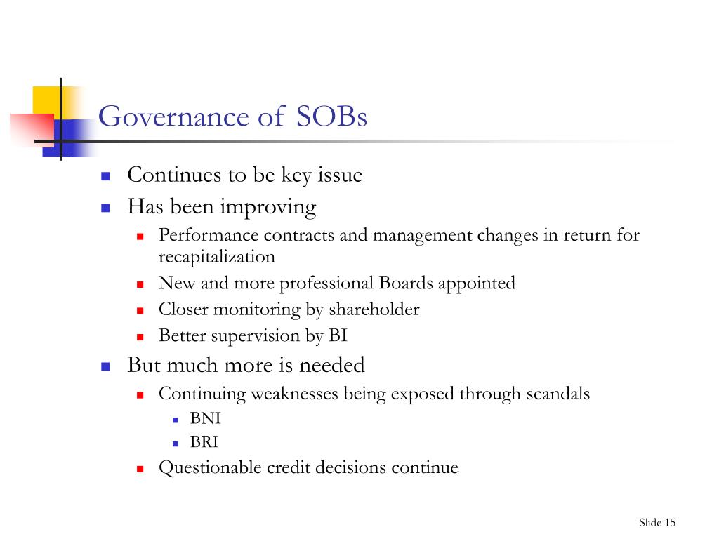 Governance of SOBs