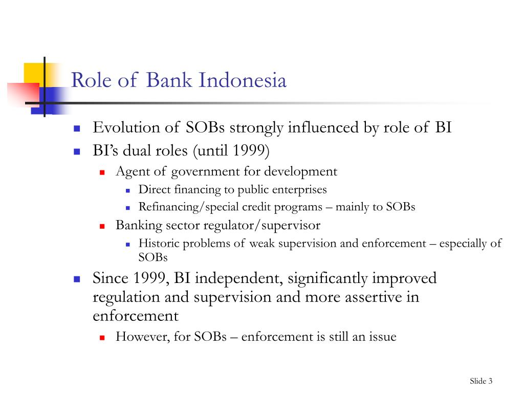 Role of Bank Indonesia