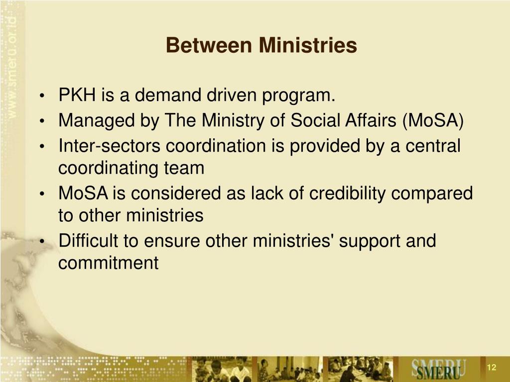 Between Ministries