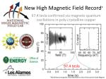 new high magnetic field record