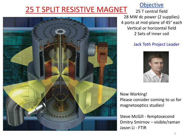 25 T SPLIT RESISTIVE MAGNET