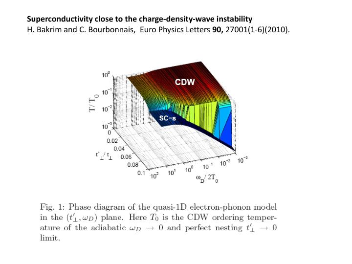 Superconductivity close to the charge-density-wave