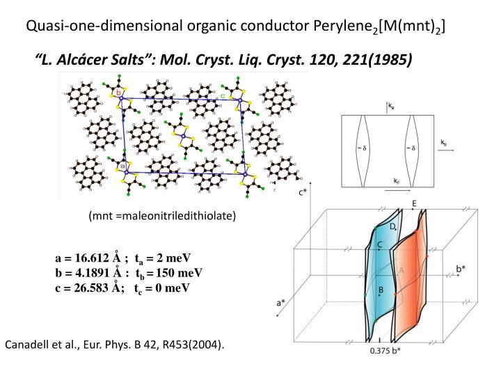 Quasi-one-dimensional