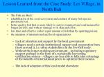lesson learned from the case study les village in north bali