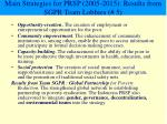 main strategies for prsp 2005 2015 results from sgpr team lobbies 5
