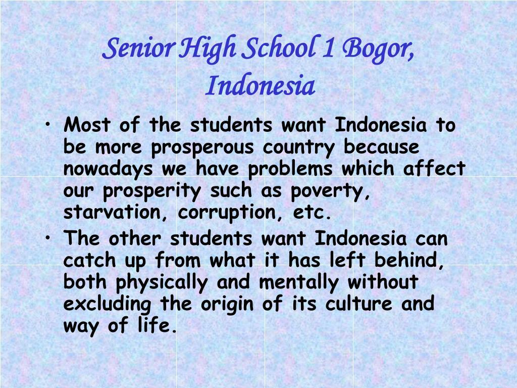 Senior High School 1 Bogor, Indonesia