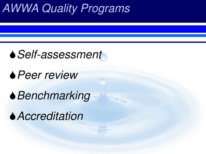 AWWA Quality Programs