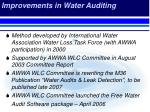 improvements in water auditing