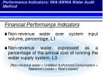 performance indicators iwa awwa water audit method1