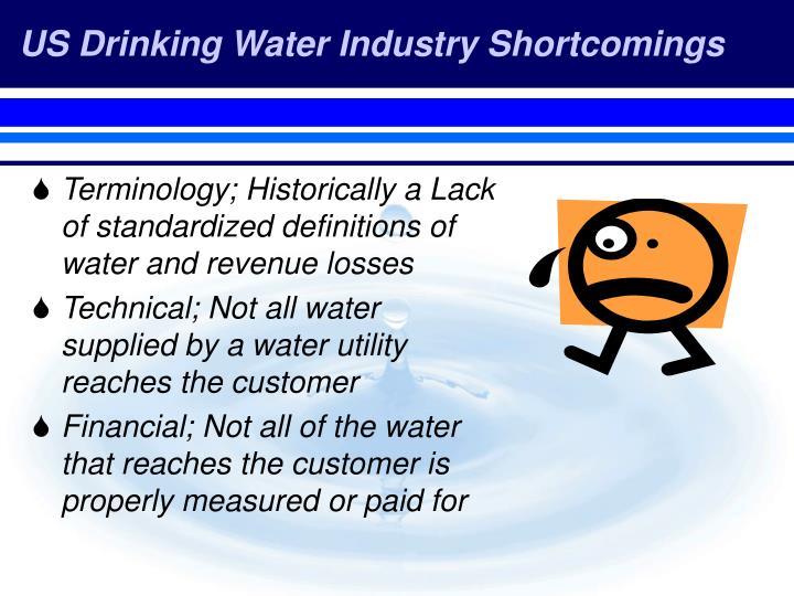 US Drinking Water Industry Shortcomings