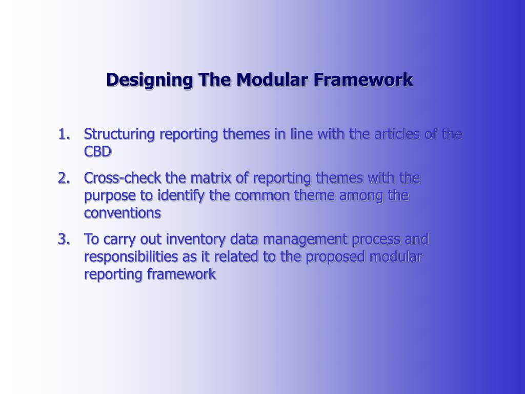Designing The Modular Framework
