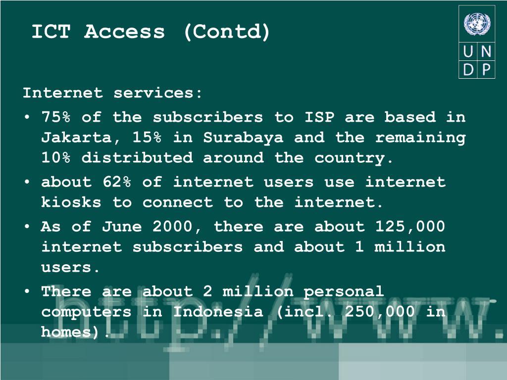 ICT Access (Contd)