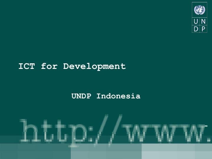 Ict for development l.jpg