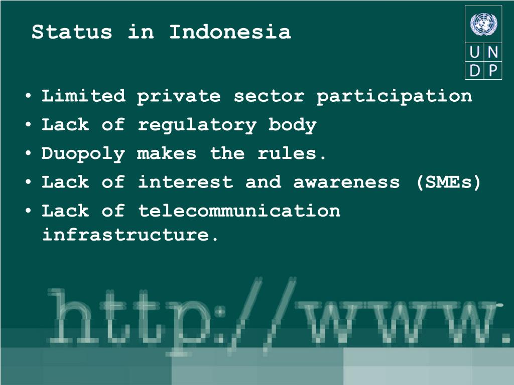 Status in Indonesia