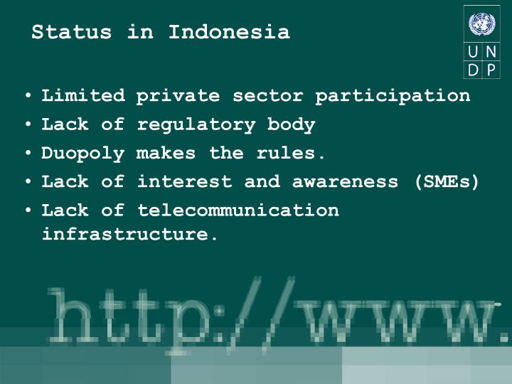 Status in indonesia l.jpg