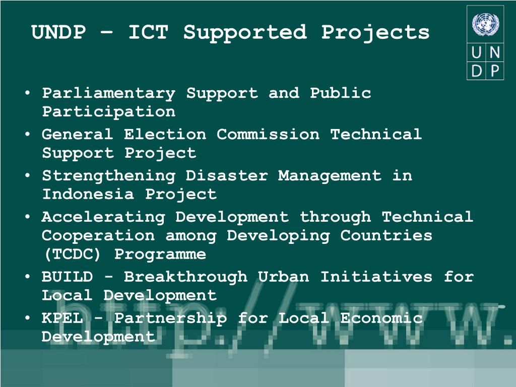 UNDP – ICT Supported Projects