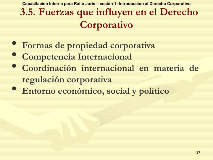 3.5. Fuerzas que influyen en el Derecho Corporativo