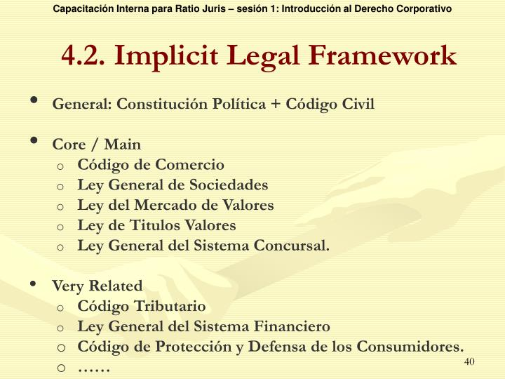 4.2. Implicit Legal Framework