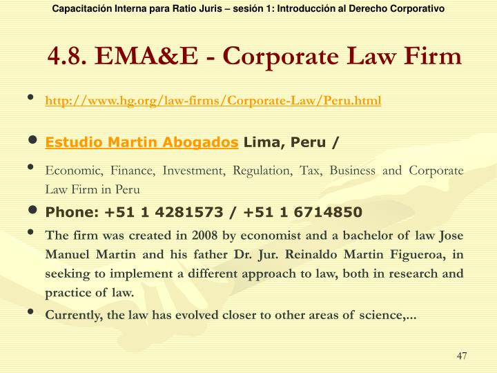 4.8. EMA&E - Corporate Law Firm