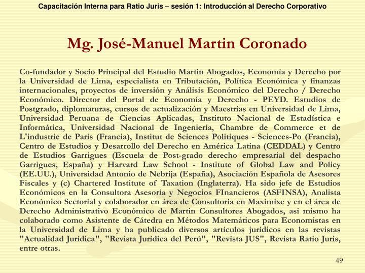 Mg. José-Manuel Martin Coronado